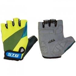 Перчатки вело STG черн/салат/синие S Х87910-С