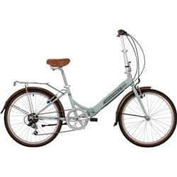 """Велосипед Складной 24"""" NOVATRACK AURORA 6 скор. Голубой"""