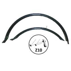 """Крылья вело HN 12-2 (26"""") black комплект 26"""" удлин. Черный"""