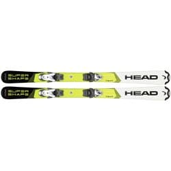 Лыжи HEAD Supershape Team white/yellow 97 + SX 4.5