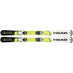 Лыжи HEAD Supershape Team white/yellow 107 + SX 4.5