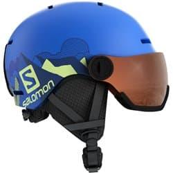 Шлем SALOMON GROM VISOR Pop Blue Mat/UNIVER KL 56-59
