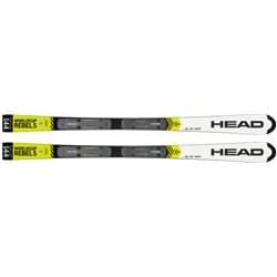 Лыжи HEAD WC Rebels iSL RD Team SW JRP RDX white/neon yellow 120 + креп. EVO 9