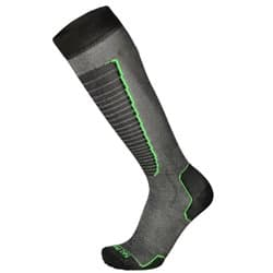 Носки MICO CA00230 Basic ski sock 155nero verde fluo (L)