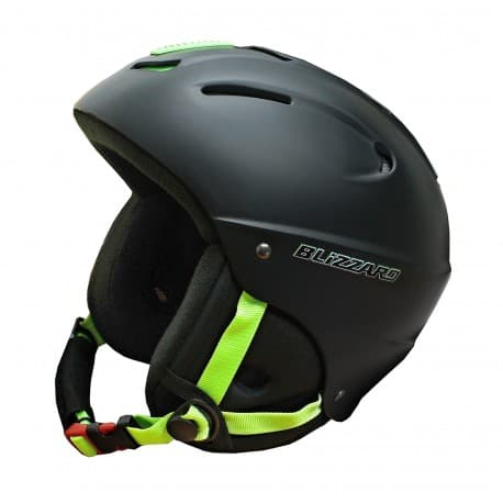 Шлем BLIZZARD® Mega black matt lime 52-56