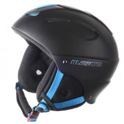 Шлем BLIZZARD® Mega black matt neon blue 52-56