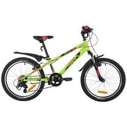 """Велосипед 20"""" NOVATRACK EXTREME 6 скор. Сталь Зеленый"""