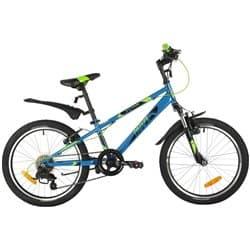 """Велосипед 20"""" NOVATRACK EXTREME 6 скор. Сталь Синий"""