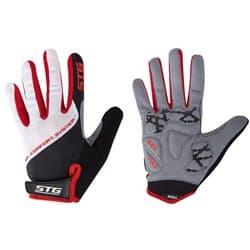 Перчатки вело STG c длинными пальцами AL-05-1825 белые/красные/черн. L Х98255-Л