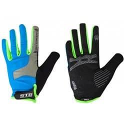 Перчатки вело STG c длинными пальцами AL-05-1871 синие/серые/черные/зеленые L Х98254-Л
