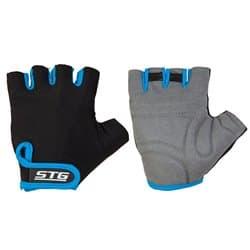 Перчатки вело STG черн/синие M Х87903-М