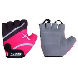 Перчатки вело STG черно-розовые Л Х61872-Л