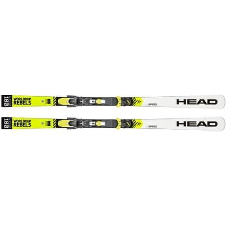 Лыжи HEAD WC Rebels iSpeed RP EVO 14 white/yellow 180 + EVO 14