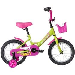 """Велосипед 14"""" NOVATRACK TWIST Зелено-Розовый"""