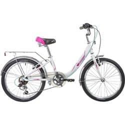 "Велосипед 20"" NOVATRACK ANCONA 6 скор. Алюм. Белый"