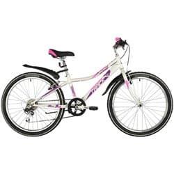"""Велосипед 24"""" NOVATRACK ALICE 10"""" 6 скоростей, Белый"""