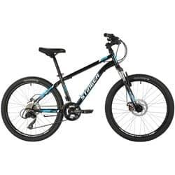"""Велосипед 24"""" STINGER CAIMAN D 14"""" 12 скоростей, Черный"""