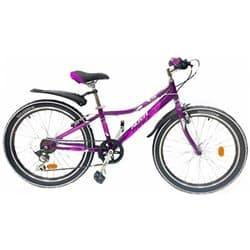 """Велосипед 24"""" NOVATRACK ALICE 12"""" 6 скоростей, Пурпурный"""