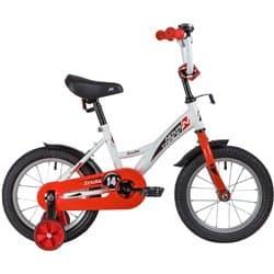 """Велосипед 14"""" NOVATRACK STRIKE Белый-красный"""