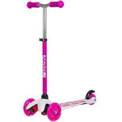 Самокат-кикборд NOVATRACK Disco-kids, детский, max 25кг, колеса 120*80, Розовый