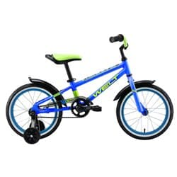 """Велосипед 16"""" WELT Dingo Blue/Acid Green 2021"""