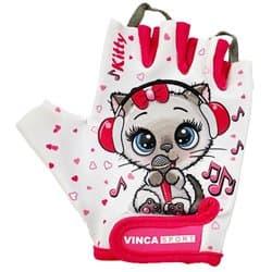Перчатки вело VINCA детские VG 980 Kitty (6 лет)