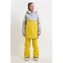 Анорак COOL ZONE MOOD холодный серый/желтый Р:S