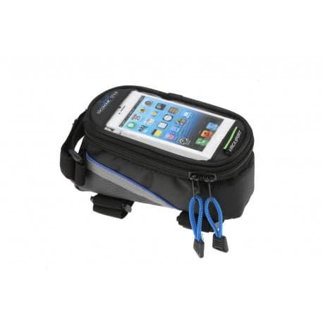 Сумка на раму FB 07 синяя, с отделом для сенсорного телефона