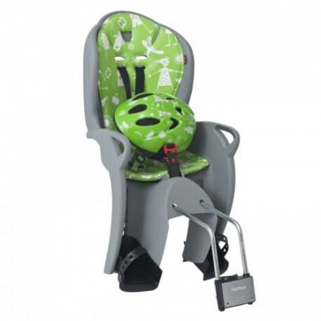Кресло дет. HAMAX Kiss Safety серый/зеленый