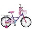 """Велосипед 20"""" NOVATRACK LITTLE GIRLZZ фиолетовый, для детей 7-10 лет"""