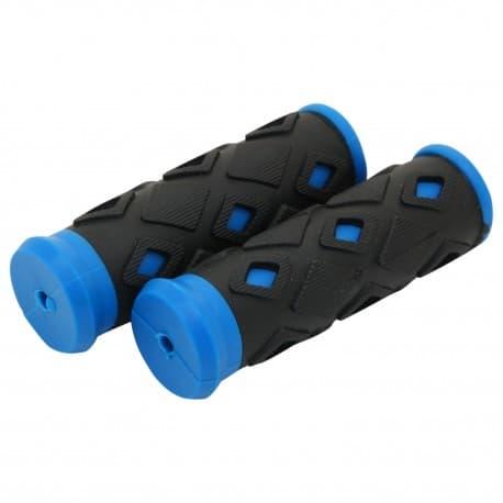 Грипсы STG XD-113B, 95мм, черн.-синие X47234-5