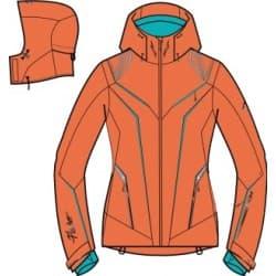 Куртка W'S FISCHER® Kobe Orange Р:34