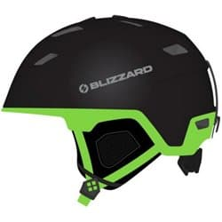 Шлем BLIZZARD® Double Black matt/Neon Green 60-62