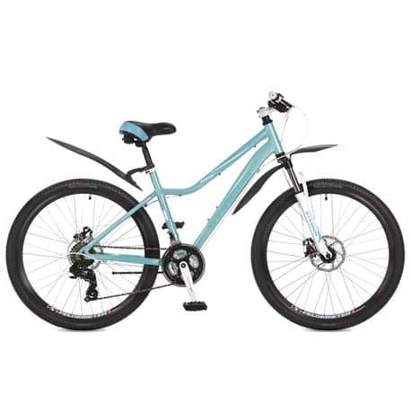 """Велосипед 26"""" STINGER VESTA D 26 (2017) с рамой 17"""", алюминиевая рама, 21 скорость, дисковые тормоза, Аквамарин"""