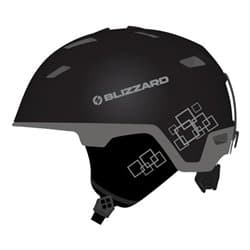 Шлем BLIZZARD® Double Black matt/Gun metal/Silver squares 56-59