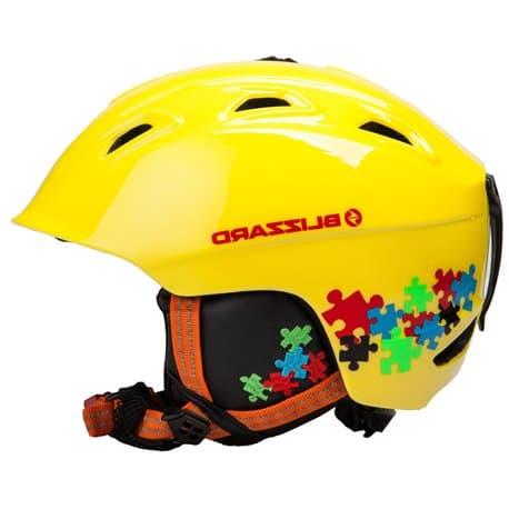 43e63118f Шлем BLIZZARD® JR Demon neon yellow/puzzles 51-55 из каталога ...