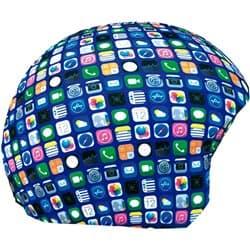 Нашлемник COOLCASC 162 Cool-print синий/иконки iphone