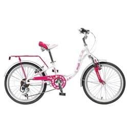 """Велосипед 20"""" NOVATRACK BUTTERFLY 6 скоростей белый для детей 7-10 лет"""