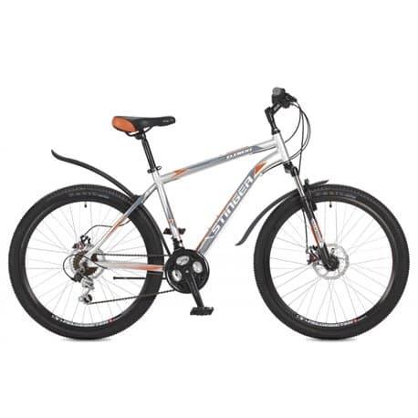 """Велосипед 26"""" STINGER ELEMENT D 18"""", 18 скоростей, Серый"""