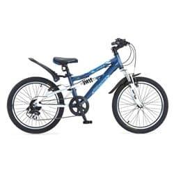 """Велосипед 20"""" NOVATRACK ACTION-JS200 алюм. 7-ск. синий, для детей 7-10 лет"""