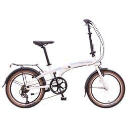 """Велосипед Cкладной 20"""" NOVATRACK Складной TG-20 7 скор. Алюм. Белый"""