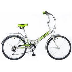"""Велосипед Cкладной 24"""" NOVATRACK TG-24 6 скор. Серый"""