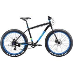 "Велосипед 26"" WELT Fat Freedom 18"" 2018 Matt Black/Blue"
