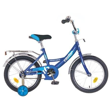 """Велосипед 16"""" NOVATRACK VECTOR синий, для детей 4-7 лет"""