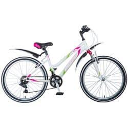 """Велосипед 24"""" STINGER LATINA 12.5"""" 12 скоростей, Белый"""