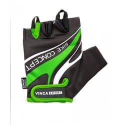 Перчатки вело VINCA VG-949 черный/зеленый XS