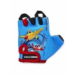 Перчатки вело VINCA детские VG-935 Plane (4 года)