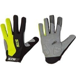 Перчатки вело STG c длинными пальцами черн./желт. S Х87907-С