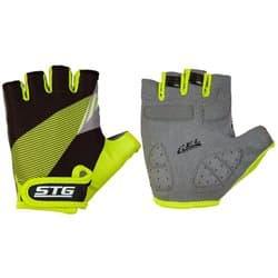 Перчатки вело STG черн/салат. XL Х87911-ХЛ