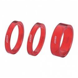 """Проставочные кольца BBB TransSpace 1.1/8"""" 2x 5mm 1x10mm красный BHP-37"""